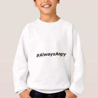 #AlwaysAngry-logotipo-negro Sudadera