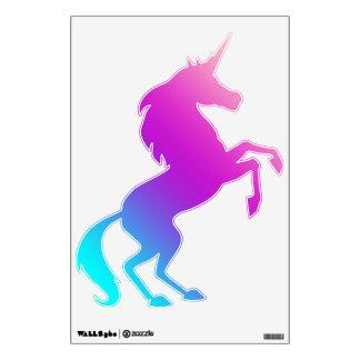Alzando la etiqueta del unicornio - azules,