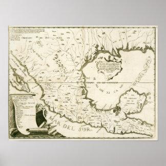Alzate y Ramírez. Mapa de nueva España. 1770. Póster