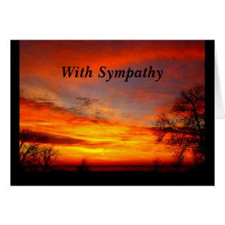 Amado dado la bienvenida en tarjeta de condolencia