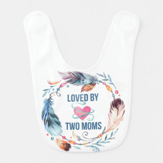 Amado por el babero bohemio del bebé de dos mamáes