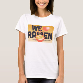 amamos los ramen camiseta