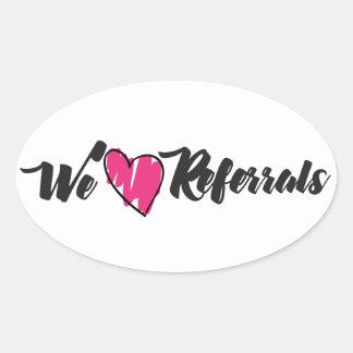 Amamos remisiones pegatina ovalada