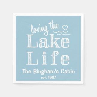Amando la vida del lago modificada para requisitos servilletas de papel