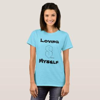 Amándose camiseta magnífica de la mujer