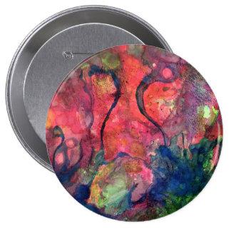 Amanecer carmesí chapa redonda de 10 cm
