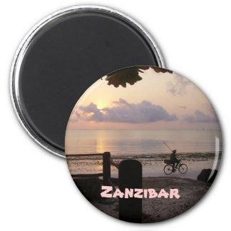 Amanecer de Zanzíbar Imanes De Nevera