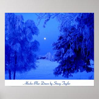 Amanecer del azul de Alaska Póster