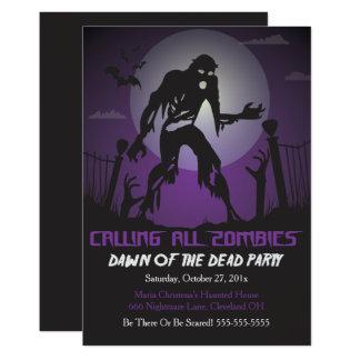 Amanecer del zombi de la invitación muerta del