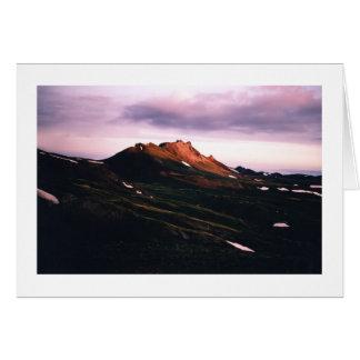 Amanecer en la montaña del ingeniero, Colorado Tarjeta Pequeña