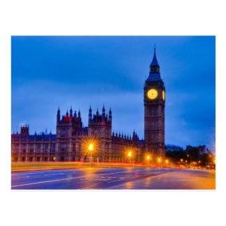 Amanecer Londres ligero Postal