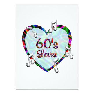 amante 60s invitación 13,9 x 19,0 cm