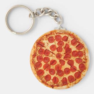 amante clásico de la pizza llavero redondo tipo chapa