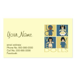 Amante de la muñeca tarjetas de visita
