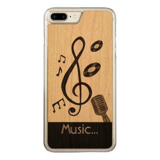 Amante de la música funda para iPhone 7 plus de carved