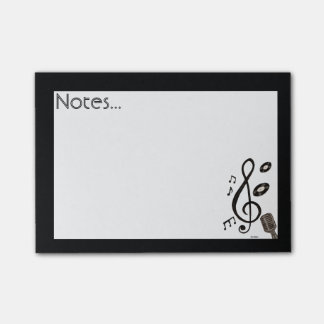 Amante de la música notas post-it®