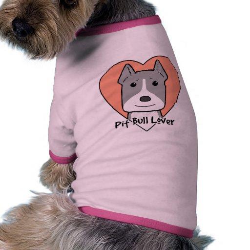 Amante de Pitbull Camiseta De Mascota