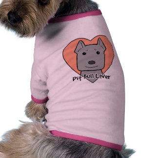 Amante de Pitbull Camiseta De Perro