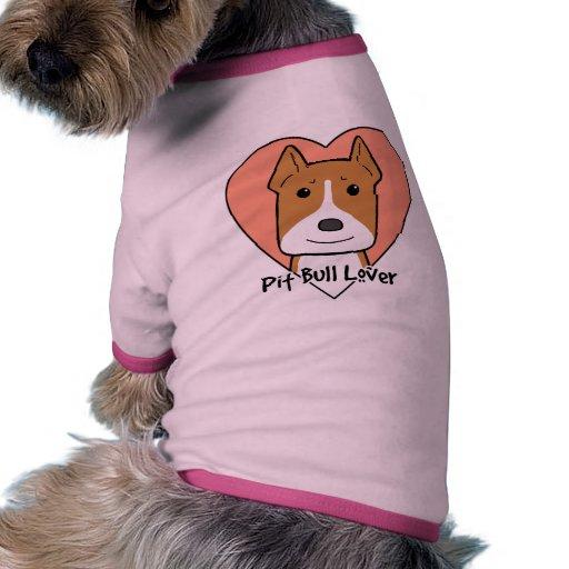 Amante de Pitbull Camisa De Perrito