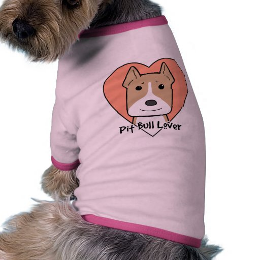 Amante de Pitbull Camisa De Mascota