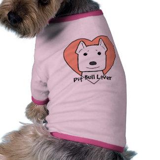 Amante de Pitbull Camisetas De Perrito