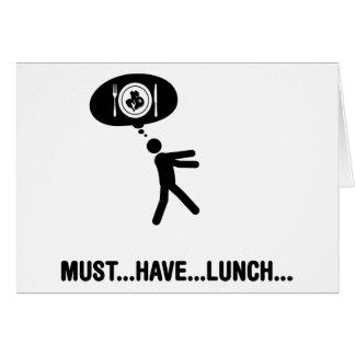 Amante del almuerzo tarjeta