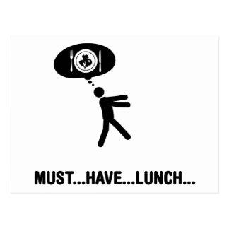 Amante del almuerzo postal