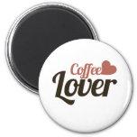 Amante del café imán de frigorífico