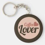 Amante del café llaveros personalizados