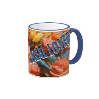 Amante del cereal taza de dos colores