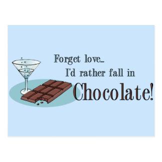 Amante del chocolate tarjeta postal