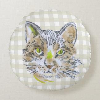 Amante del gato - almohada redonda