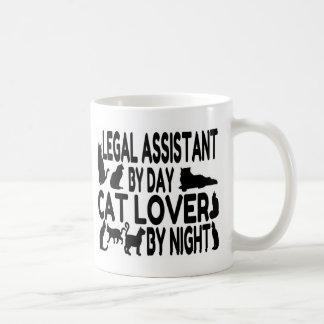 Amante del gato del asistente legal taza de café