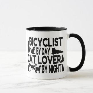 Amante del gato del Bicyclist Taza