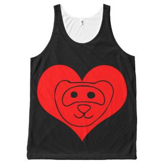 Amante del hurón camiseta de tirantes con estampado integral