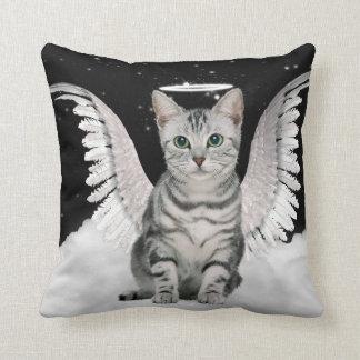Amante del mascota del gato de Tabby de la plata Cojín Decorativo