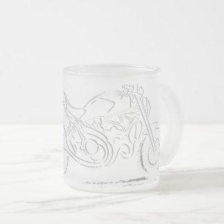 Amante del monstruo - taza del vidrio esmerilado