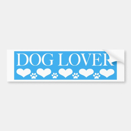 Amante del perro etiqueta de parachoque