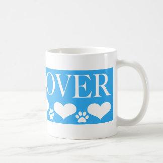 Amante del perro taza básica blanca