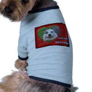 Amante del pitbull camisas de mascota
