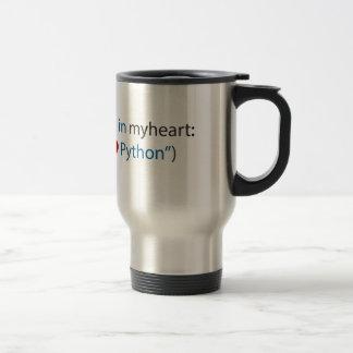 Amante del pitón amante - y del café taza de viaje