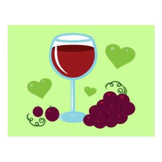 Amante del vino postal