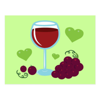 Amante del vino tarjetas postales