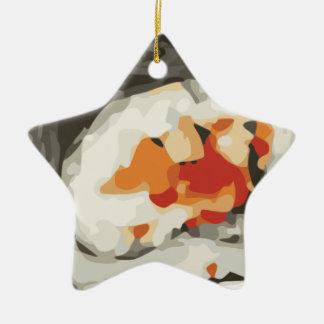 Amante japonés de la comida del rollo de sushi adorno de cerámica en forma de estrella