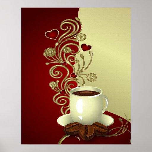 Amante moderno del café posters