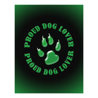 Amante orgulloso del perro folleto 21,6 x 28 cm