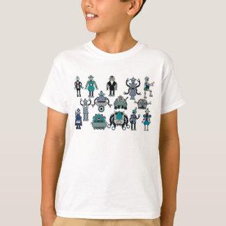 ¡Amante retro del robot para los niños! Camisas