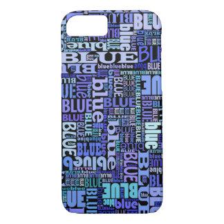 Amantes azules, modelo azul en el negro, funda iPhone 7