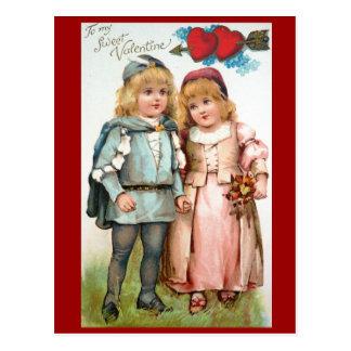 Amantes de la postal de la antigüedad de la