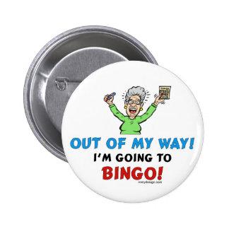 Amantes del bingo chapa redonda 5 cm